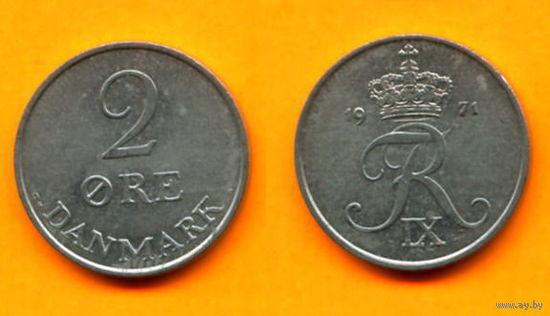 Дания 2 ЭЙРЕ 1971г.   распродажа