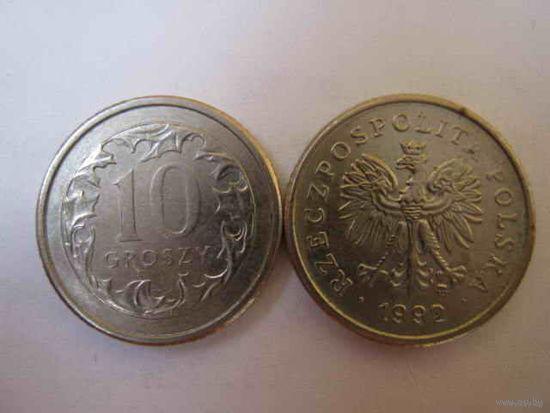 10 грош 1992 Y# 279 (Польша)