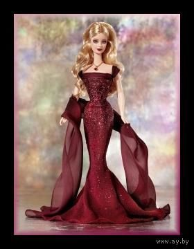 Новая кукла Барби, January Garnet Birthstone Barbie Doll, 2002
