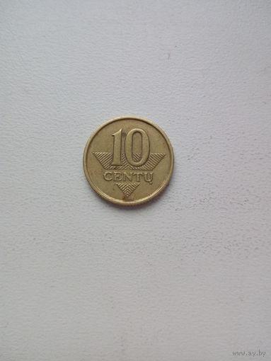 10 центов 1998г. Литва.