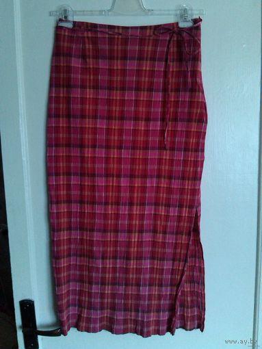 Жатая клетчатая юбка NEXT, 46-48