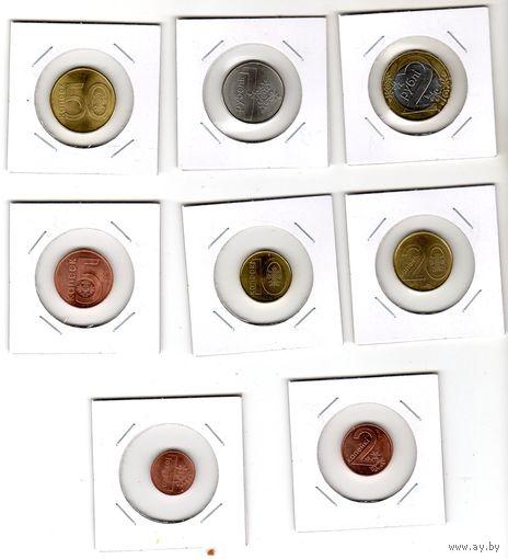 Беларусь. Полный комплект монет образца 2009 г.