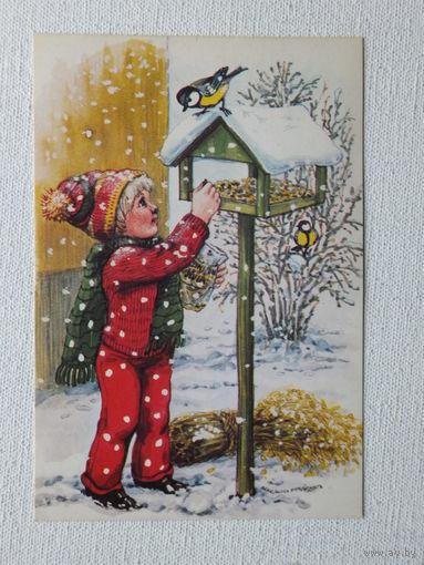 С новым годом  Финляндия 1981   10х14 см