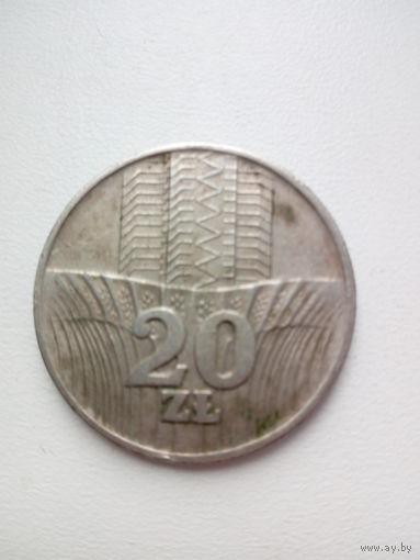 20 злотых 1974г. Польша.