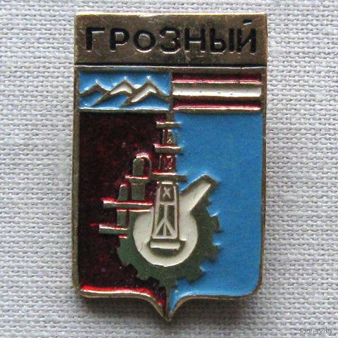 Значок герб города Грозный 16-13