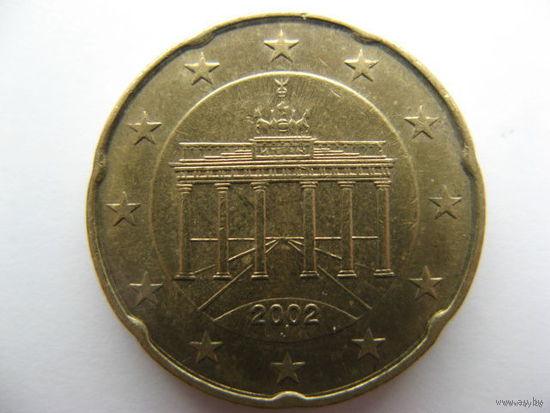 Германия 20 евроцентов 2002г. (J)