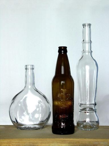 Бутылки.