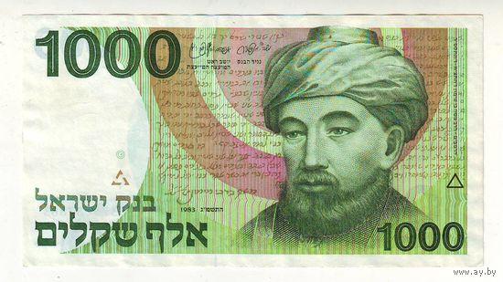 Израиль. 1000 шекелей 1983 г.