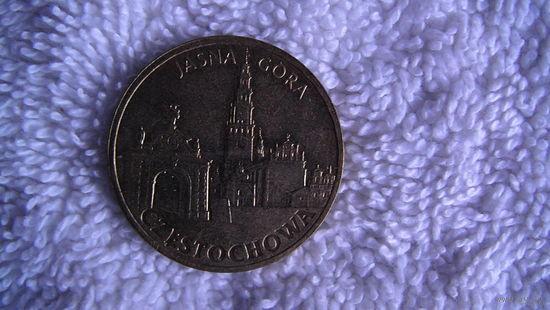 Польша 2 злотых 2009 ЧЕСТОХОВА. ЯСНАЯ ГОРА.  распродажа