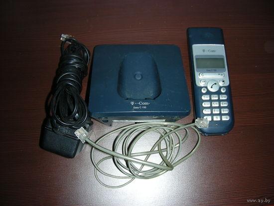 Радио-телефон    T-COM нет аккамуляторов, простые пальчики