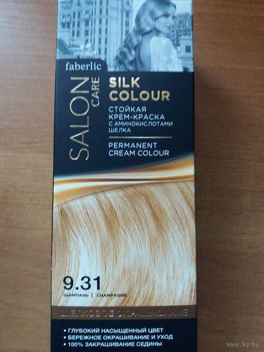 Стойкая крем-краска для волос Шелковое окрашивание, тон 9.31. Шампань