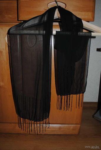 """Шарф женский-лёгкий-""""ВЕЧЕРНИЙ""""-очень роскошный шарф-под вечернее платье!"""