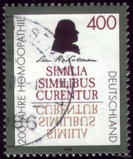 1 марка 1996 год Германия 200 лет гомеопатии