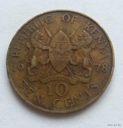Кения, 10 центов 1978 год