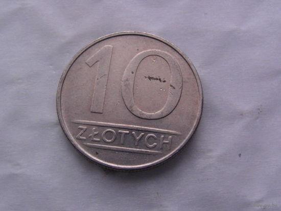 Польша 10 злотых 1987г  распродажа
