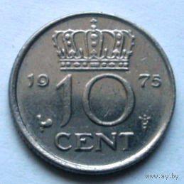 10 центов 1975 Нидерланды