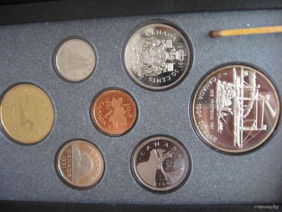 Набор от 1 цента до 1 доллара, Канада 1986г