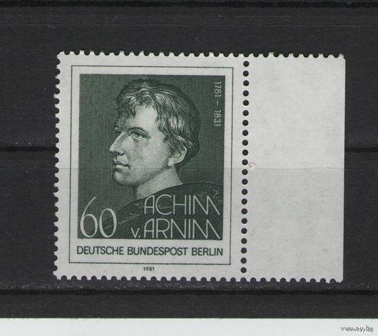 Западный Берлин 1981г. Mi N 637** 250 лет с.д.р. Ахима фон Арнима немецкий писатель