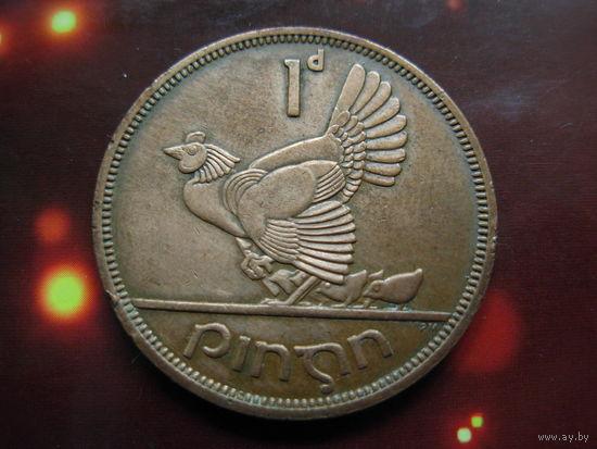 Ирландия 1 пенни 1968 KM#11