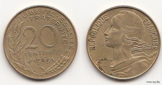 Франция 20 сантимов 1969г  распродажа