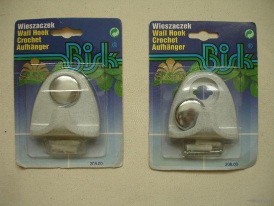Новые крючки настенные для ванной комнаты пластиковые на один рожёк Польша (цена за один)