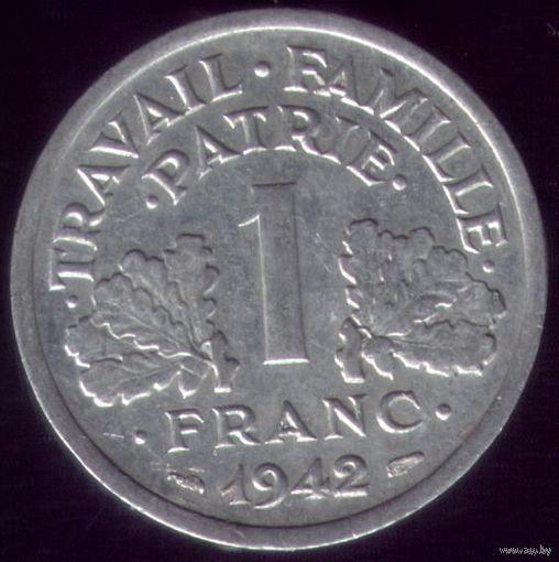1 Франк 1942 год Франция