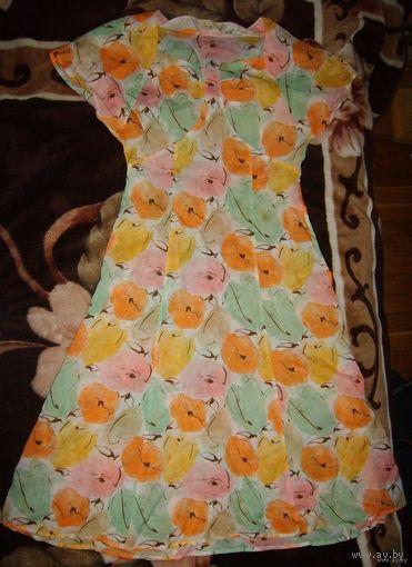 Тонкое, воздушное, красивое летнее платье, р.46