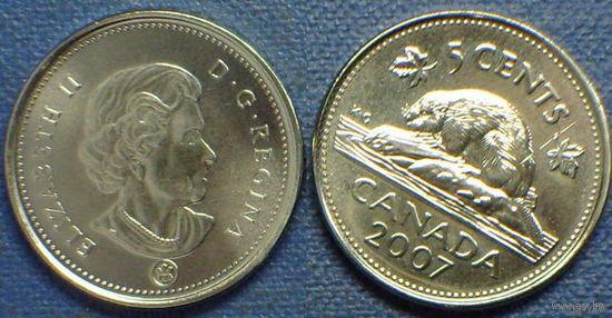Канада 5 центов 2010 медно-никелевый сплав - UNC!   распродажа