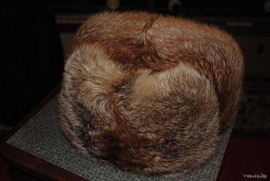 """Шапка женская: """"Ушанка-Обманка"""" на 52 размер головы. Новая, из натурального меха цельной тушки лисы. Мода возвращается, - поэтому спеши:-)!"""