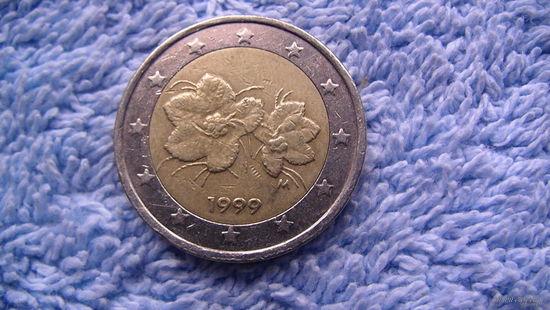 Финляндия 2 евро 1999г. No1 распродажа