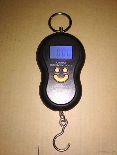 Весы безмен до 50кг для рыбалки с ПОДСВЕТКОЙ экрана!(погрешность 5 гр)