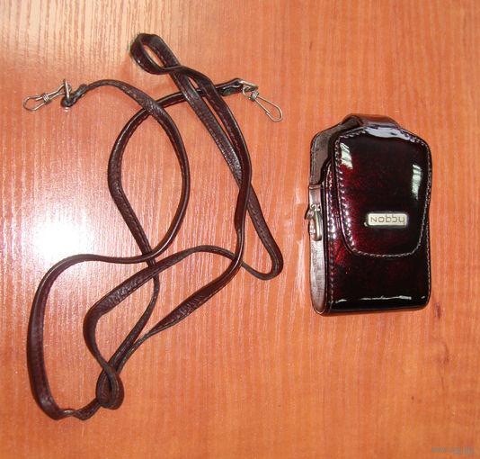 Лаковый кожаный чехол для телефона NOBBY