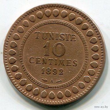 ТУНИС - 10 САНТИМ 1892