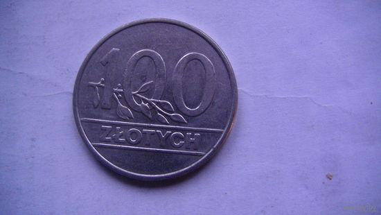 Польша 100 злотых 1990г распродажа
