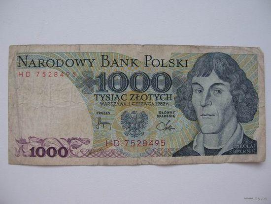 Польша    1000зл  1982г.
