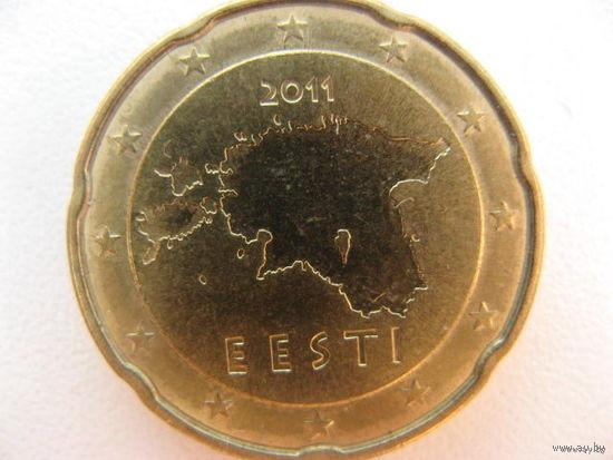 Эстония 20 евроцентов 2011г.