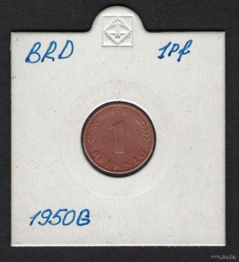ФРГ 1 Пфенниг 1950 г. G