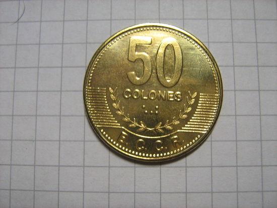 Коста-рика 50 колон 2007г.