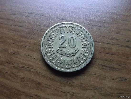 Тунис 20 миллимов 1996
