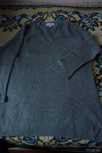 Мужской серый свитер (кофта), E'sprit, р. М (Германия), 39% шерсти. Кашемир!