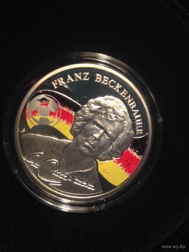 Набор из 5 монет Короли футбола. Серебро