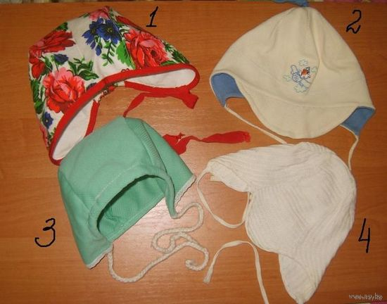 Чепчики/шапочки для маленьких