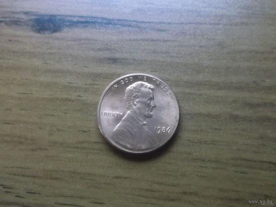 США 1 cent 1986.