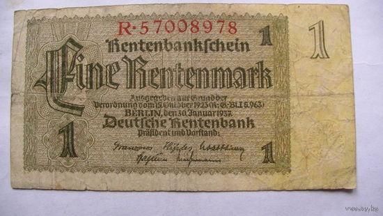 Германия. 1 марка  1937г. 3 шт. опт. распродажа
