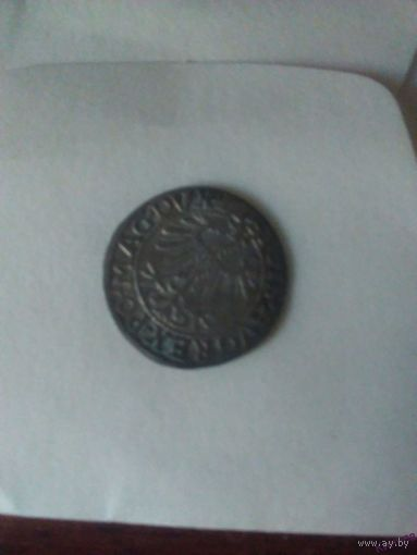 Монета Литва 1557 г. Серебро