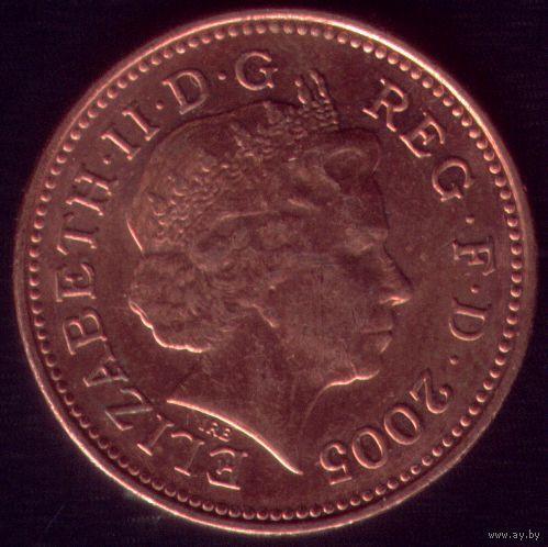 1 пенни 2005 год Великобритания