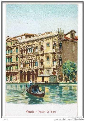 "Италия Венеция Palazzo Ca d"" oro        литография"