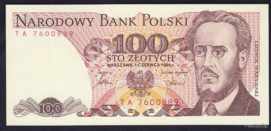 Польша. 100 Злотых - 1986 г. UNC   распродажа