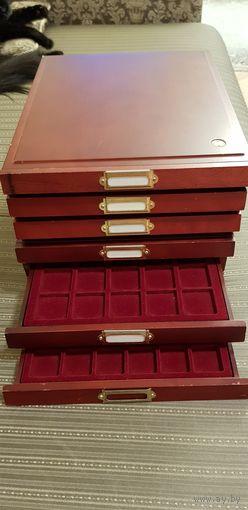 6(шесть) деревянных планшетов для монет
