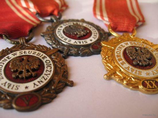 3 медали выслуги Польша
